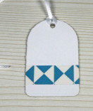 Masking Tape, Washi Tape Dreiecke Taubenblau-Weiss 15 mm x 10 m