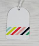 Masking Tape, Washi Tape Bunt Gestreift 15 mm x 10 m
