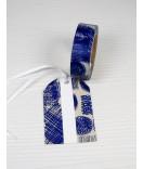 Masking Tape, Washi Tape Abstract Blau-Grau 15 mm x 10 m