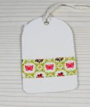 Masking Tape, Washi Tape Schmetterlinge Pink-Grün 15 mm x 10 m