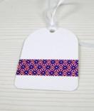 Masking Tape, Washi Tape Ornament Blau-Rosa 15 mm x 10 m