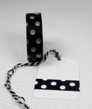 Masking Tape, Washi Tape Weisse Punkte 15 mm x 10 m
