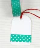 Masking Tape, Washi Tape Punkte türkis 15 mm x 10 m