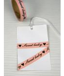 Masking Tape, Washi Tape schmal rosa Sweet Baby 10 mm x 10 m