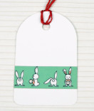 Masking Tape, Washi Tape Hase, Osterhase mint 15 mm x 10 m