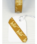 Masking Tape, Washi Tape gold Hello 15 mm x 10 m