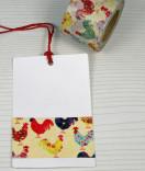 Masking Tape, Washi Tape Hühner bunt 30 mm x 10 m