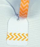 Masking Tape, Washi Tape Chevron orange 15 mm x 10 m
