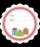 20 Weihnachtsetiketten 44 mm rund Geschenke