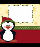 Weihnachts-Sticker Pinguin-2 50 x 50 mm